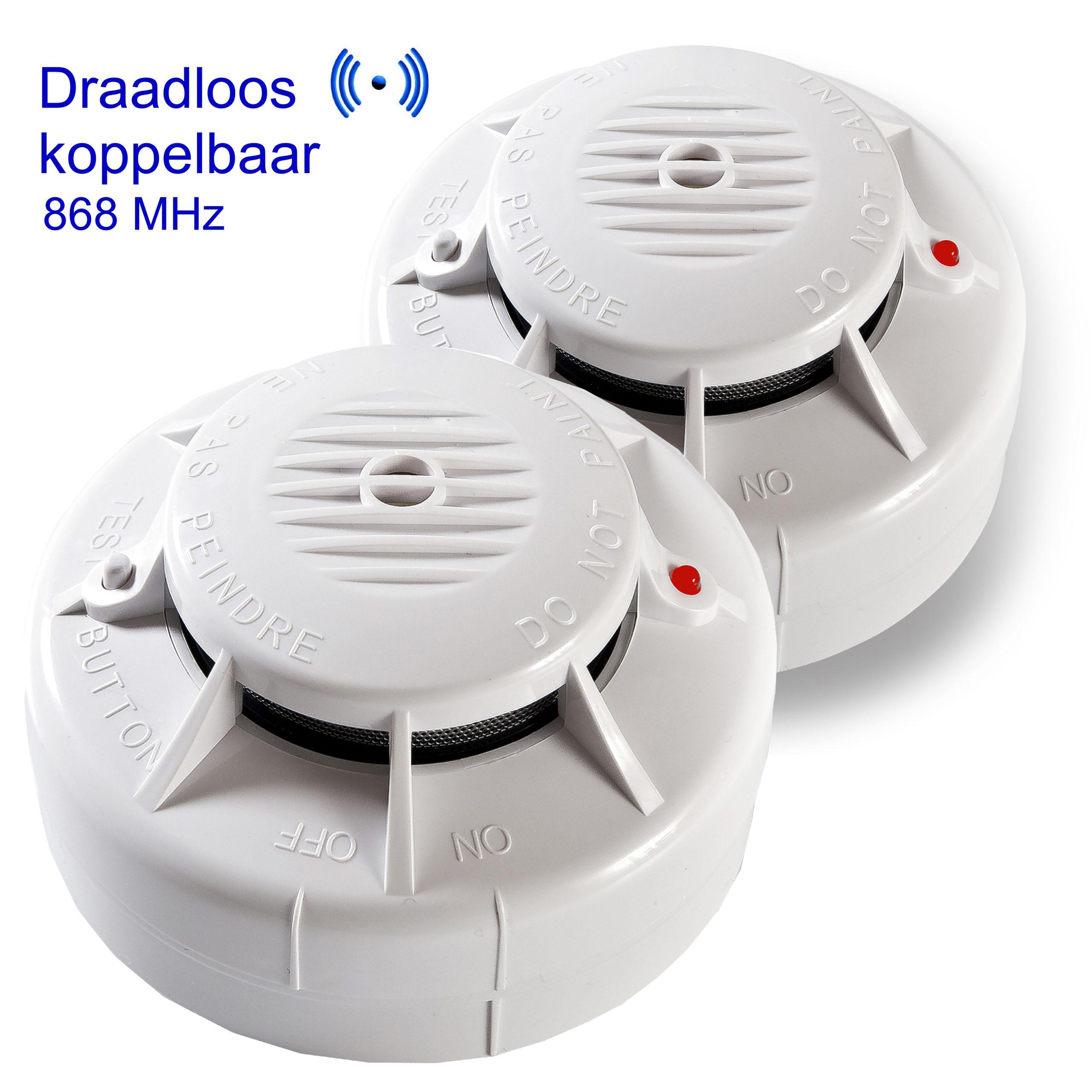 Draadloos koppelbare optische rookmelder 3 volt ASD-10QR