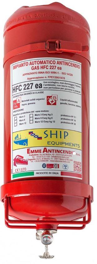 Easy Marine Fire automatische blusautomaat 3kg gas HCF227